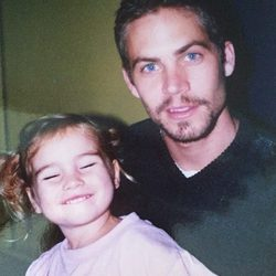 Paul Walker con su hija Meadow Walker cuando era una niña