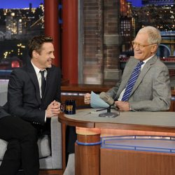Robert Downey Jr. en el show de David Letterman en Nueva York