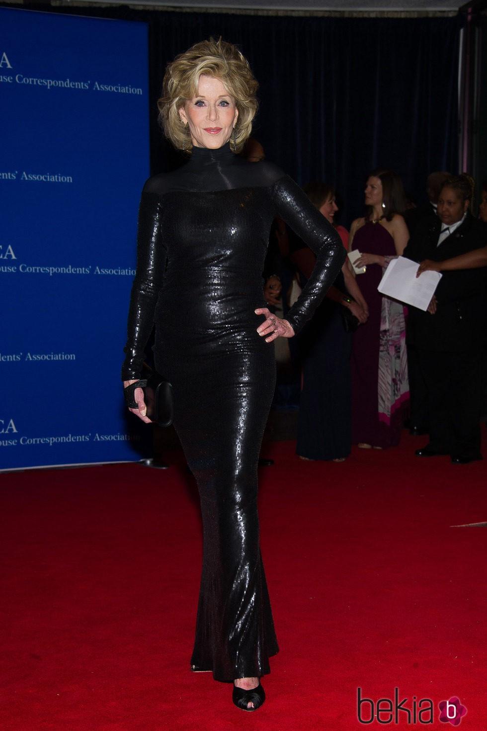 Jane Fonda en la Cena de Corresponsales de la Casa Blanca 2015