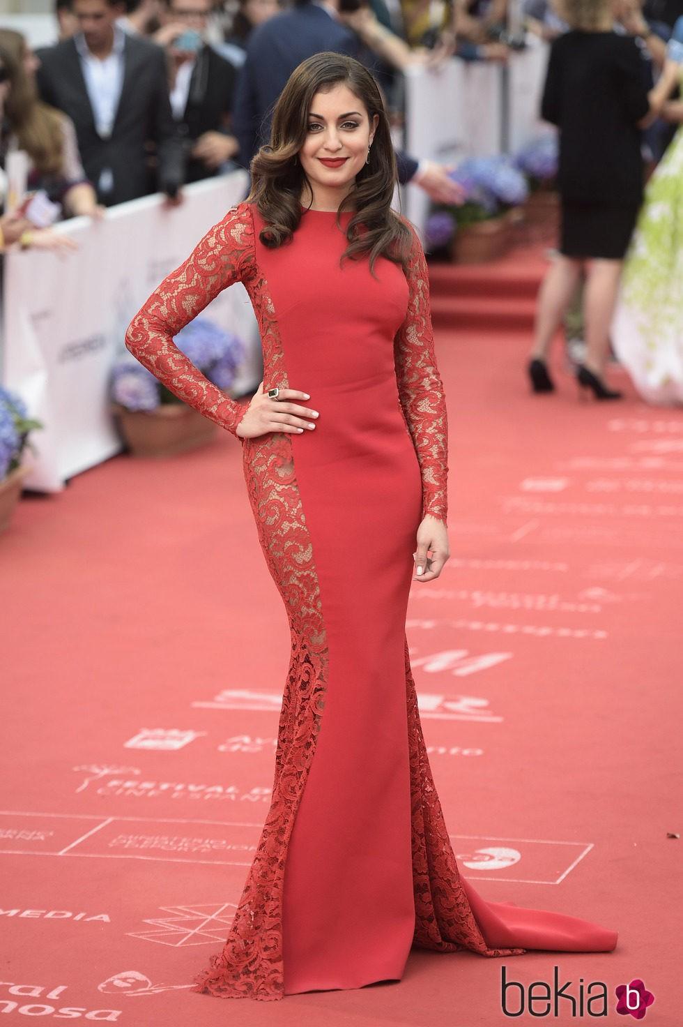 Hiba Abouk en el Festival de Málaga 2015