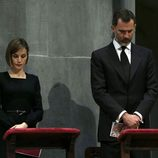 Los Reyes Felipe y Letizia en el funeral institucional por las víctimas del accidente de avión de Germanwings