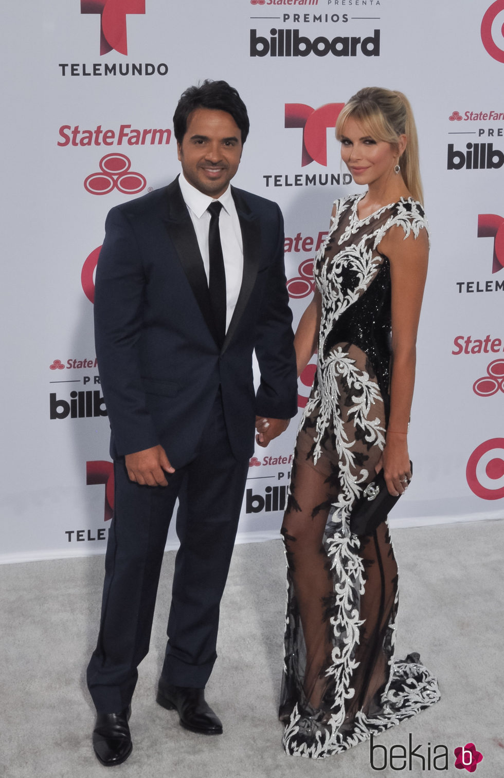 Luis Fonsi y Águeda López en los Billboard Latin Music Awards 2015