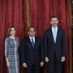 El Rey Felipe VI y la Reina Letizia en el almuerzo con el Presidente de la República Árabe de Egipto