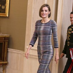 La Reina Letizia en una audiencia con la junta directiva de la Real Asociación de Amigos del Museo Reina Sofía