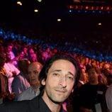 Adrien Brody en el 'Combate del Siglo' en Las Vegas