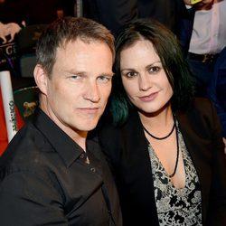 Stephen Moyer y Anna Paquin en el 'Combate del Siglo' en Las Vegas