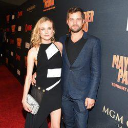 Diane Kruger y Joshua Jackson en el 'Combate del Siglo' en Las Vegas