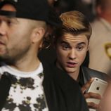 Justin Bieber en el 'Combate del Siglo' en Las Vegas