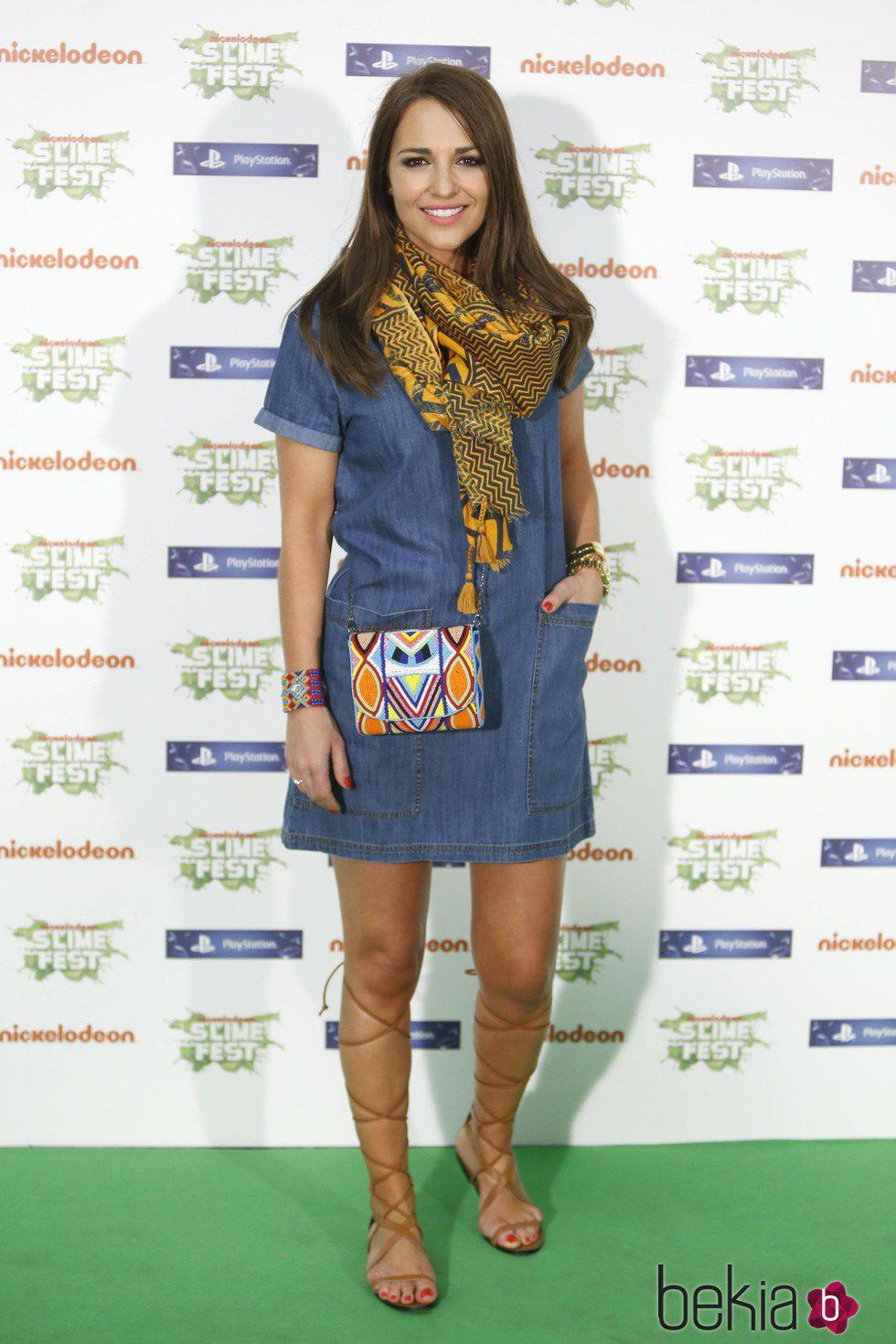 Paula Echevarría en la gala de los Nickelodeon Slime Fest 2015