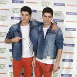 El grupo 'Gemeliers' en la gala de los Nickelodeon Slime Fest 2015