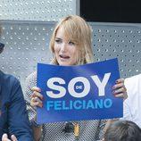 Alba Carrillo apoyando a Feliciano López en el Open de Madrid 2015