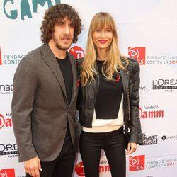 Carles Puyol y Vanesa Lorenzo en la presentación de 'Epidemia: The Game'