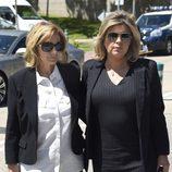 María Teresa Campos y Terelu Campos en la capilla ardiente de Jesús Hermida