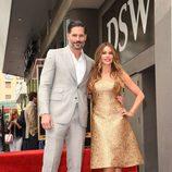 Joe Manganiello y Sofia Vergara en el Paseo de la Fama