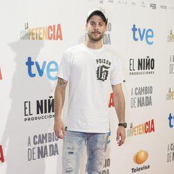 Luis Fernández en el estreno de 'A cambio de nada'