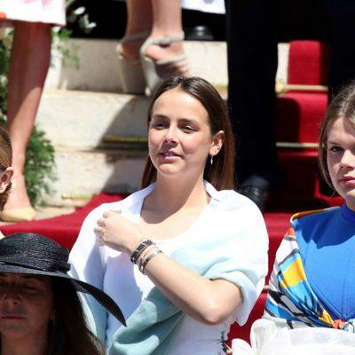 Alexandra de Hannover, Pauline Ducruet y Camille Gottlieb en el bautizo de Jacques y Gabriella de Mónaco
