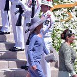 Carolina de Mónaco en el bautizo de Jacques y Gabriella de Mónaco