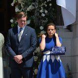 Christopher Le Vine Jr y Estefanía de Mónaco en el bautizo de Jacques y Gabriella de Mónaco