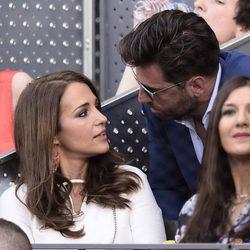 Paula Echevarría y David Bustamante en la final del Madrid Open 2015