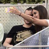 Cristina Pedroche y David Muñoz haciéndose un selfie en la final del Madrid Open 2015
