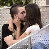 Cristina Pedroche y David Muñoz besándose en la final del Madrid Open 2015
