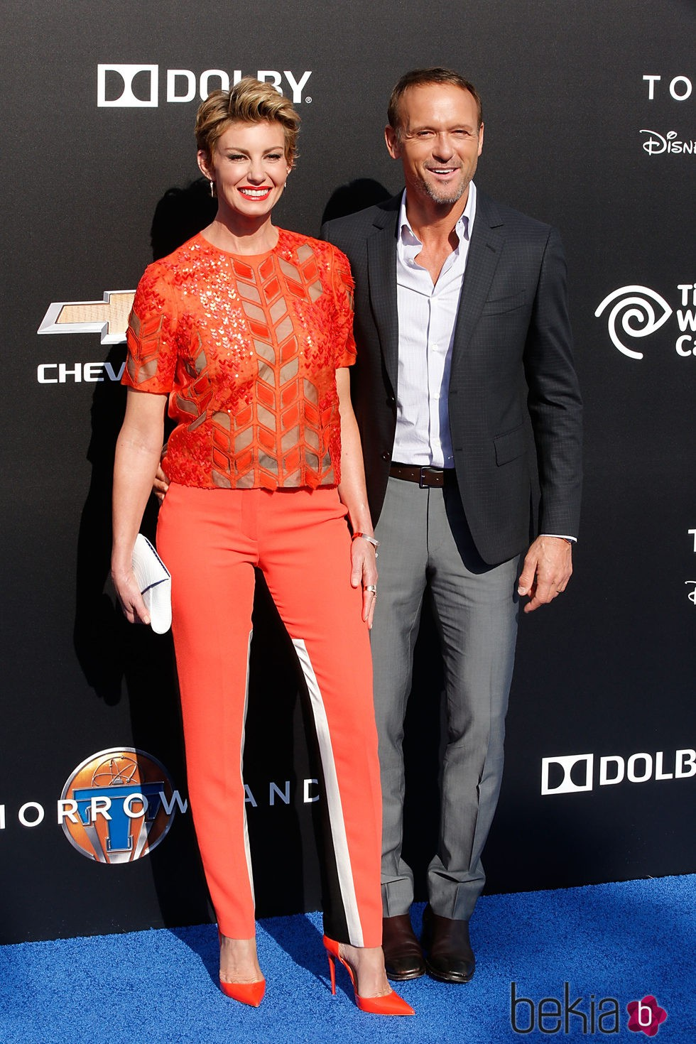 Faith Hill y Tim McGraw en el estreno de Tomorrowland' en Anaheim
