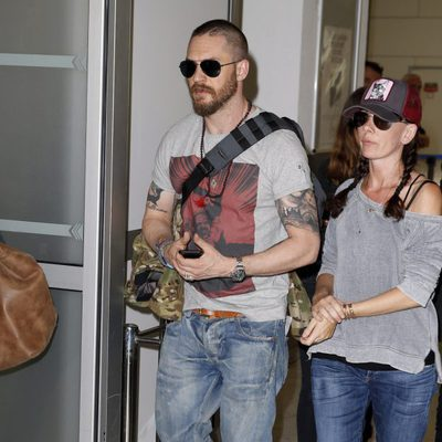 Tom Hardy a su llegada al Festival de Cannes 2015