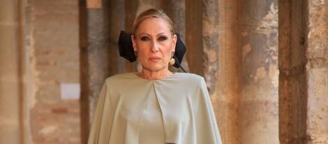 Rosa Benito en su debut como modelo profesional en Sevilla