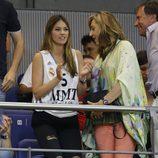 Helen Lindes animando al Real Madrid durante la final de la Euroliga 2015