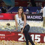 Helen Lindes tras la victoria del Real Madrid en la final de la Euroliga 2015