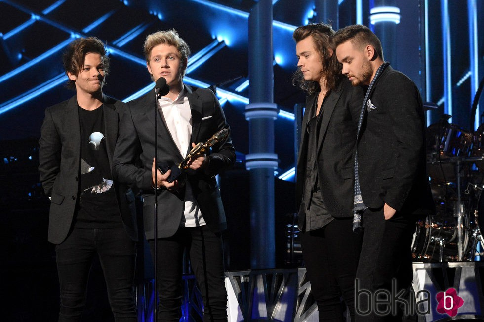 Louis Tomlinson, Niall Horan, Harry Styles y Liam Payne en los Billboard Music Awards 2015