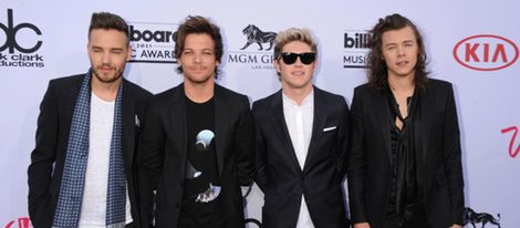 Liam Payne, Louis Tomlinson, Niall Horan y Harry Styles en los Billboard Music Awards 2015