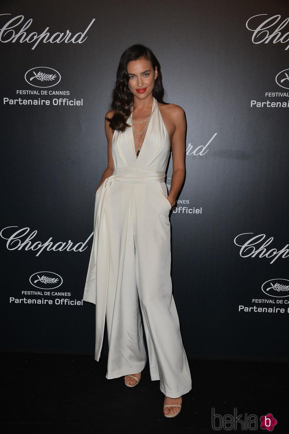 Irina Shayk en la fiesta Chopard ofrecida por el Festival de Cannes 2015