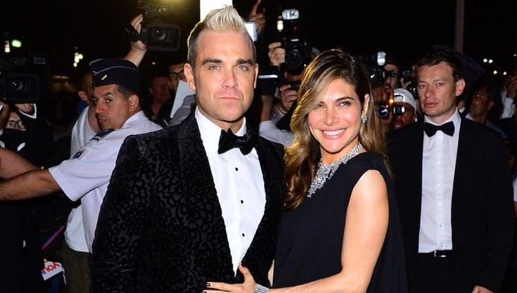 Robbie Williams y Ayda Field en la fiesta Chopard ofrecida por el Festival de Cannes 2015