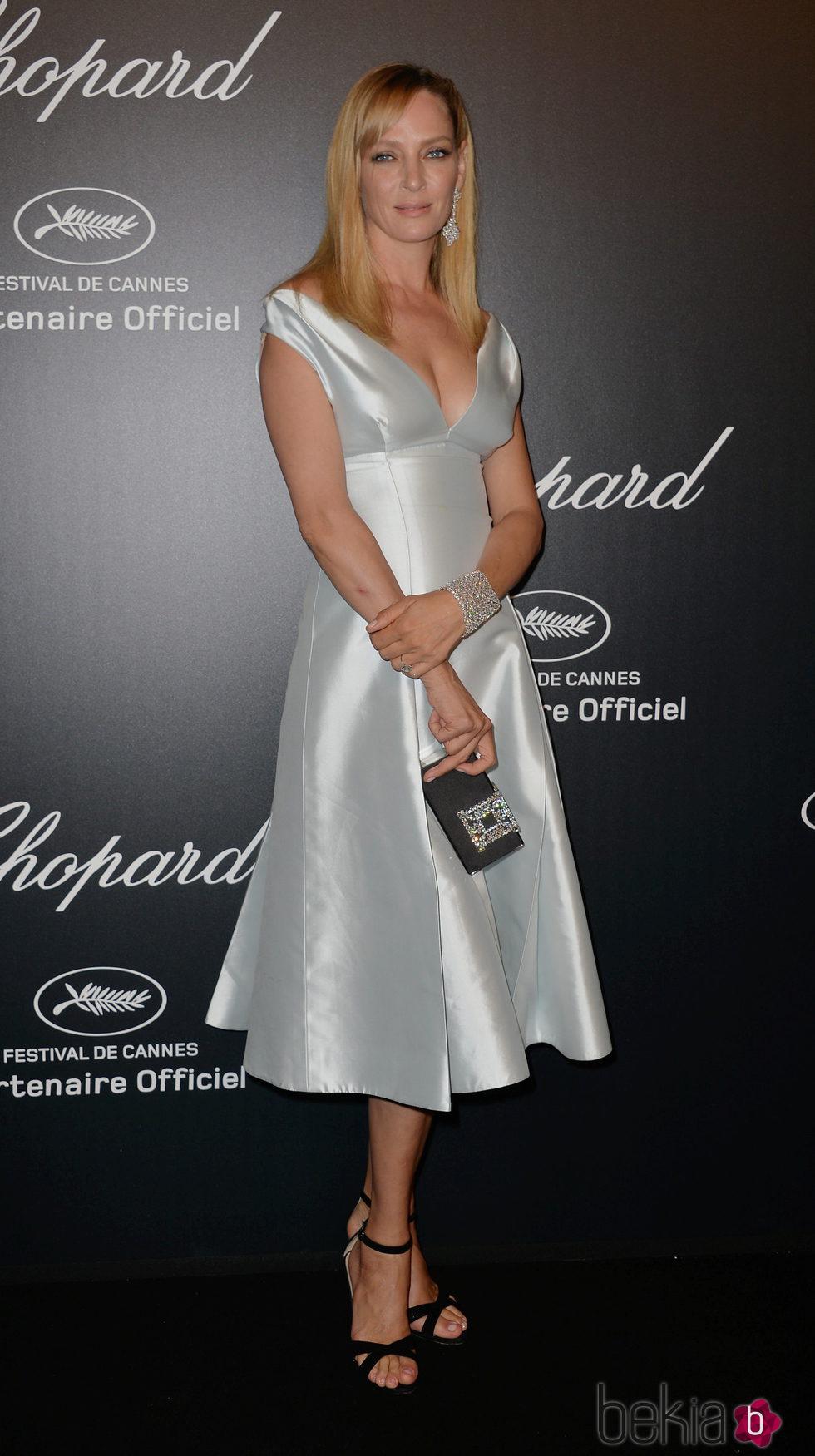 Uma Thurman en la fiesta Chopard ofrecida por el Festival de Cannes 2015