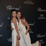 Adriana Lima e Irina Shayk en la fiesta Chopard ofrecida por el Festival de Cannes 2015