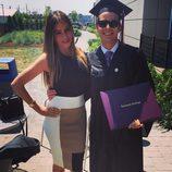 Sofía Vergara con su hijo Manolo en su graduación