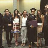 Sofía Vergara con su novio Joe Manganiello en la graduación de su hijo Manolo