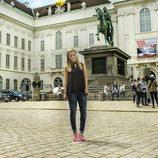Edurne en el Palacio Imperial de Viena antes de Eurovisión 2015