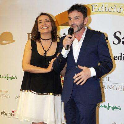 Fernando Tejero y Pepa Bueno en la entrega de los Bombines de San Isidro 2015