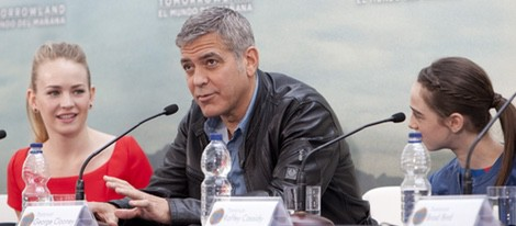 Los actores de 'Tomorrowland: El mundo del mañana' presentan su película en Valencia