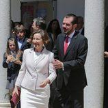 Los padres de la Reina Letizia en la Primera Comunión de la Princesa Leonor