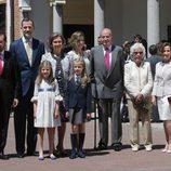 La Princesa Leonor con la Familia Real y los Ortiz-Rocasolano en su Primera Comunión