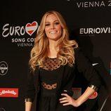 Edurne en su primera rueda de prensa en Viena para Eurovisión 2015