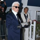 Karl Lagerfeld en la fiesta de Vanity Fair celebrada en el Festival de Cannes 2015