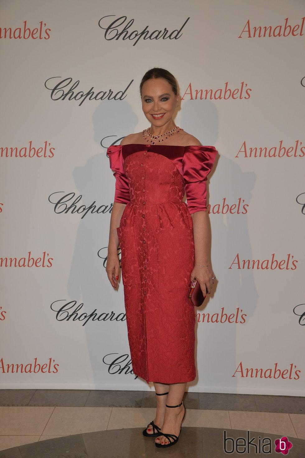 Ornella Muti en la fiesta Chopard Annabel's del Festival de Cannes 2015