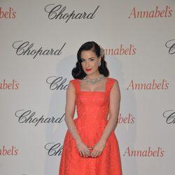 Dita von Teese en la fiesta Chopard Annabel's del Festival de Cannes 2015