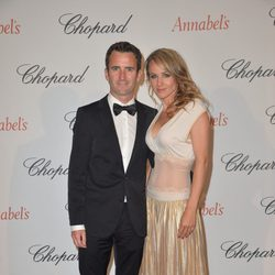 Romain Dumas y su esposa Elisia en la fiesta Chopard Annabel's del Festival de Cannes 2015