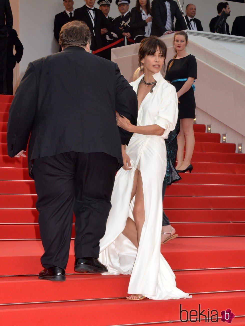Sophie Marceau tiene un descuido en el Festival de Cannes 2015