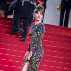 Sophie Marceau en la premiere de 'Mountains May Depart' en el Festival de Cannes 2015